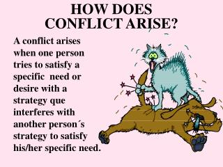 HOW DOES  CONFLICT ARISE?