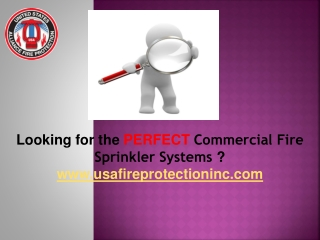 Installation of Commercial Fire Sprinkler Systems