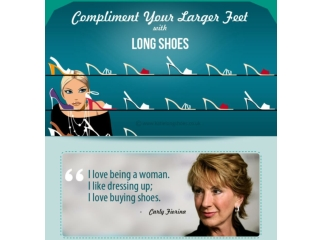 Infographic on How to Compliment Larger Feet with Long Shoes