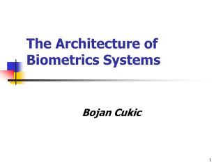 The Architecture of Biometrics Systems