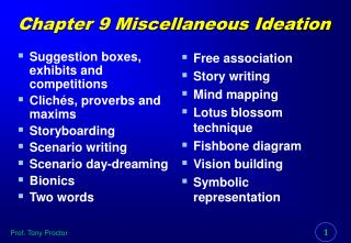 Chapter 9 Miscellaneous Ideation