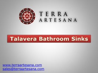 TerraArtesana - Talavera Bathroom Sinks