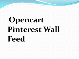 Opencart Pinterest Wall Feed