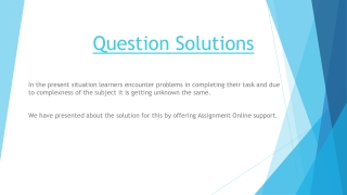 question solutions
