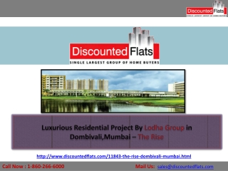 Lodha The Rise Offers Luxurious Apartments at Dombivali