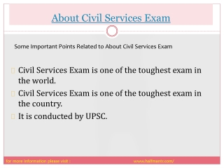 Complete information about civil Services Exam