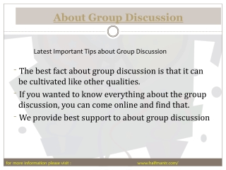The best About group discussion guide