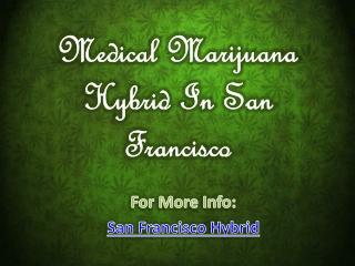 Medical Marijuana Hybrid In San Francisco