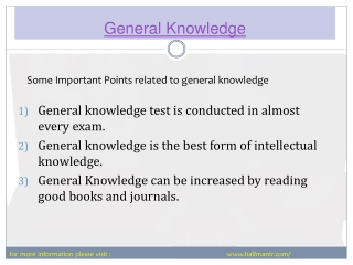 The interesting information General Knowledge