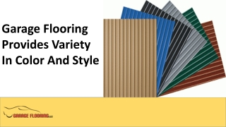 Garage Flooring Provides Variety in Color and Style