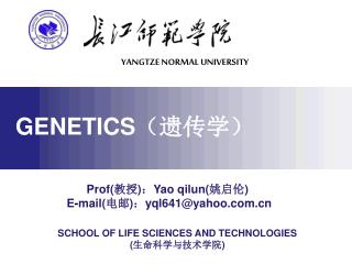 Prof( 教授 ) : Yao qilun( 姚启伦 ) E - mail( 电邮 ) : yql641@yahoo.com.cn