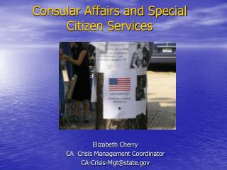 Consular Affairs and Special Citizen Services