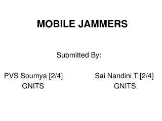 MOBILE JAMMERS