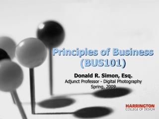 Principles of Business (BUS101)