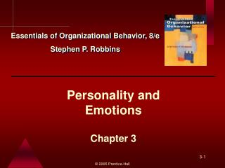 Personality and  Emotions  Chapter 3
