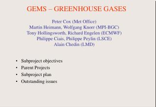 GEMS – GREENHOUSE GASES
