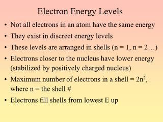 Electron Energy Levels