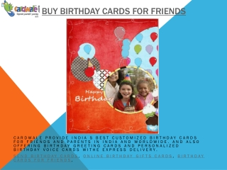 Buy Birthday Cards For Friends