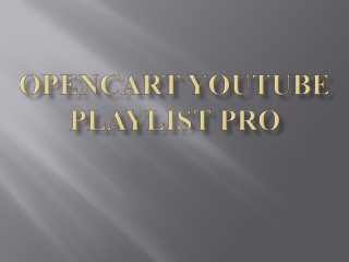 OpenCart YouTube Playlist Pro