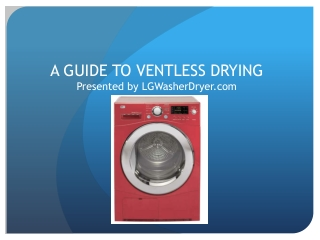A guide to ventless drying