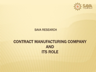 Contract Manufacturing Company and Its Role
