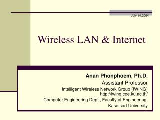 Wireless LAN & Internet