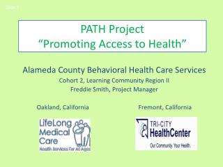 """PATH Project """"Promoting Access to Health"""""""