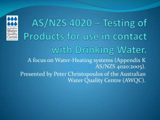 A focus on Water-Heating systems Appendix K AS