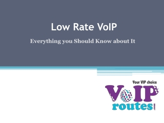 Low Rate VoIP