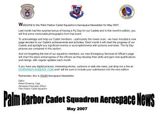 Palm Harbor Cadet Squadron Aerospace News