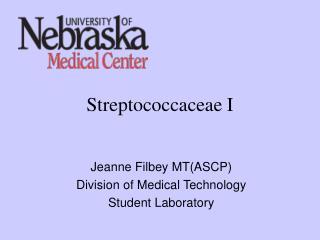 Streptococcaceae I