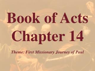 Book of Acts  Chapter 14