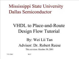 vhdl to place-and-route design flow tutorial