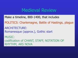 Medieval Review