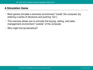 A Simulation Game