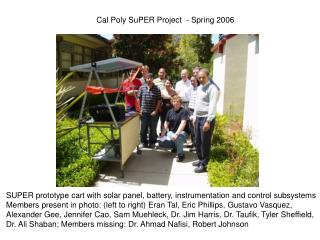 Cal Poly SuPER Project  - Spring 2006