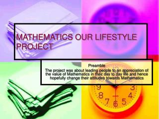 MATHEMATICS OUR LIFESTYLE PROJECT