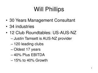 Will Phillips