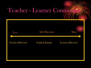 Teacher - Learner Continuum