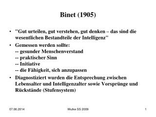 Binet (1905)