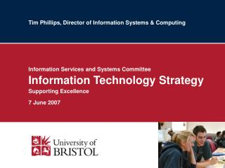 Tim Phillips, Director of Information Systems & Computing