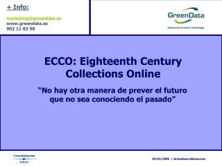 ECCO: Eighteenth Century Collections Online