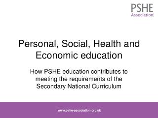 Personal, Social, Health and Economic education