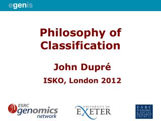 Philosophy of Classification