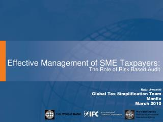 Effective Management of SME Taxpayers: The Role of Risk Based Audit