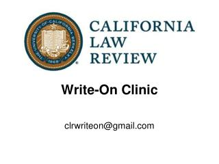 Write-On Clinic