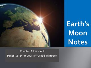Earth's Moon Notes