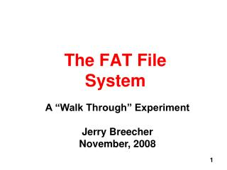 The FAT File System