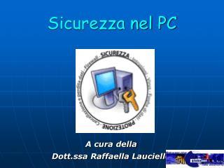 Sicurezza nel PC