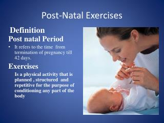 Post-Natal Exercises